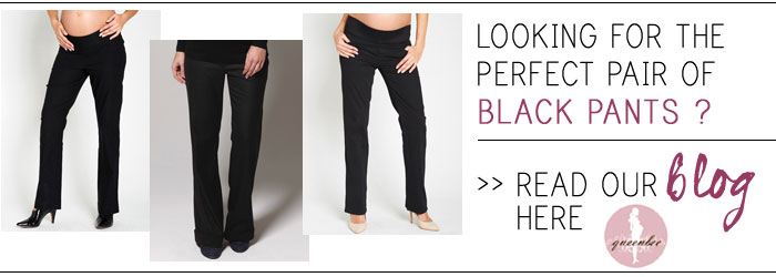 the perfect black maternity pants