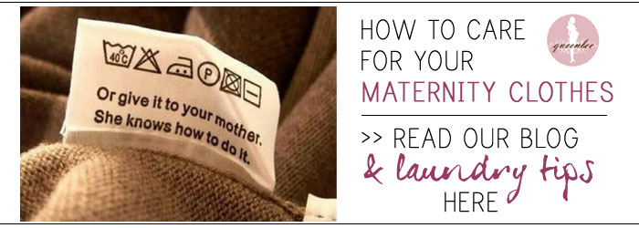 how to care for your maternity clothes