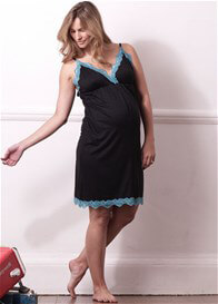 Queen Bee Sofia Lace Trim Maternity/Nursing Nightie by Milky Way Nursingwear