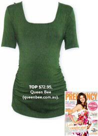 Queen Bee Montana Green Maternity Tee by Trimester Clothing