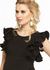 Queen Bee Eloise LBMD Black Maternity Dress by More of Me