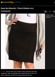 Queen Bee Revelation Jersey Black Maternity Skirt by Trimester Clothing