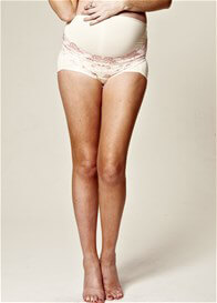 Queen Bee Lace Under Bump Support Maternity Underwear Shorts by QueenBee