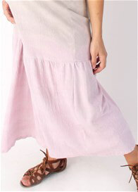 Queen Bee Shell Pink Tiered Maxi Dress by Nuka Maternity