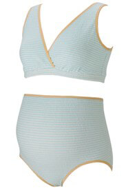Queen Bee Clara Teal Striped Maternity/Nursing Sleep Bra by QueenBee