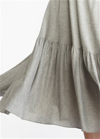 Queen Bee Beatrix Grey Maternity Boho Dress by More of Me