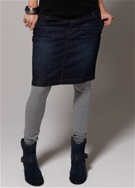 Queen Bee Denim Maternity Skirt in Dark Wash by Esprit