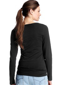 Queen Bee Long Sleeve Maternity Tee (Black, Grey or White) by Esprit