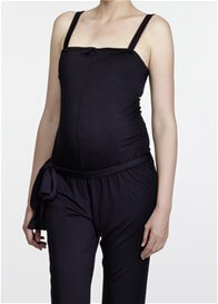 Queen Bee Bangkok Black Maternity Jumpsuit by Slacks & Co