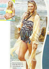 Queen Bee Jennie Monako Print Maternity Tankini Swimsuit by Maternal America