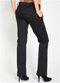 Queen Bee Black Cotton Maternity Trousers by Esprit