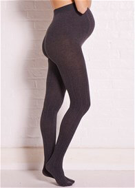 Queen Bee Grey Cable Knit Maternity Tights by Noppies