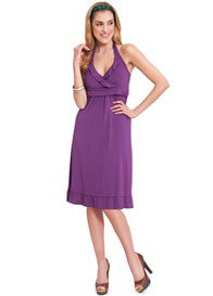 Queen Bee Flirty Halter Maternity/Nursing Dress by Milk Nursingwear