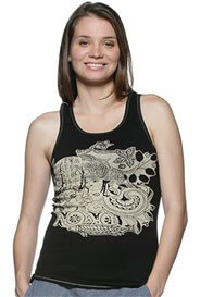 Queen Bee Black Goddess Maternity Tank Top by NOM Maternity