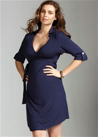 Queen Bee Astute Navy Blue Maternity Dress by Trimester Clothing