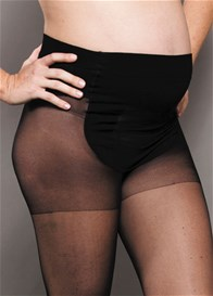Queen Bee Baby Bump Black Sheer Maternity Tights by Ambra