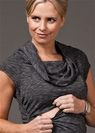 Queen Bee Tristan Cowl Neck Maternity/Nursing Top by Quack Nursingwear
