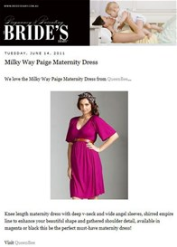 Queen Bee Paige Maternity Dress by Milky Way Nursingwear