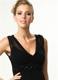 Queen Bee Sparkling Maternity Evening Dress by Crave