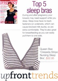 Queen Bee Cressida Grey Stripe Maternity Nursing Sleep Bra by QueenBee