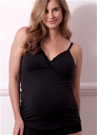 Queen Bee Netalia Black Maternity/Nursing Cami by QueenBee
