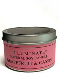 Queen Bee Soy-based Candle w Grapefruit & Cassis Fragrance by Illuminate
