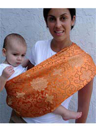 Queen Bee Luxe Burnt Orange Peony Baby Carrier by Pippalily