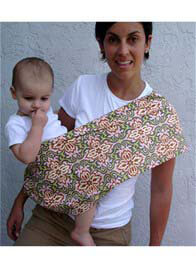Pippalily - Luxe Rose Temple Garland Baby Carrier - ON SALE