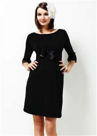 Queen Bee Modern Love Black Maternity Dress by Trimester Clothing