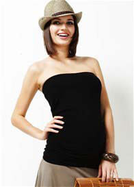 Queen Bee Less Is More Ruched Maternity Bandeau Top by Trimester Clothing