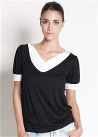 Dote - Slate Nursing Top in Black