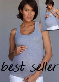 1 In The Oven - Essential Ribbed Nursing Tank Top - ON SALE