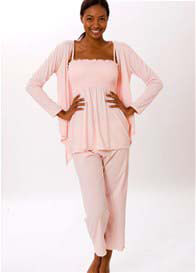 La Leche League - 3 piece Lounge/Sleepwear Set in Pink