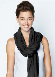 Queen Bee Original Nursing Scarf in Black by Maternal America