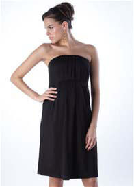 Queen Bee Aida Black Strapless Maternity Dress by Seraphine
