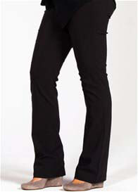 Queen Bee Amsterdam Boot Leg Maternity Pants in Black by Mayreau