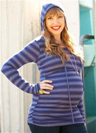 Quack Nursingwear - Aidan Hoodie in Navy Stripes