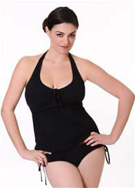 Queen Bee Jesse Black Maternity/Nursing Swimsuit by Quack Nursingwear