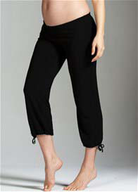 Queen Bee Entwined String Black Maternity Pants by Trimester Clothing