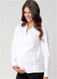 Queen Bee Ruched Career Maternity Shirt by Ripe Maternity