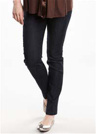 Queen Bee Dark Wash Maternity Cigarette Jeans by Maternal America