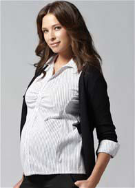 Ripe Maternity - Striped Career Maternity Shirt - ON SALE