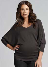 Ripe Maternity - Batwing Knit Top in Carbon