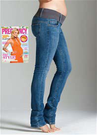 Maternal America - Stone Wash Skinny Jeans - ON SALE