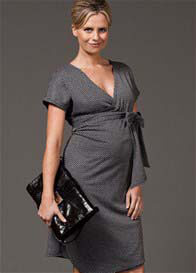 Queen Bee Splendid Wrap Maternity Knit Dress by Trimester Clothing