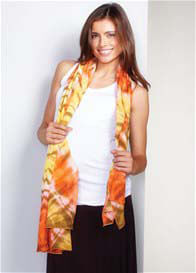 Maternal America - Orange Tie Dye Nursing Scarf