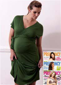 Trimester™ - Brunswick Wrap Dress in Sage