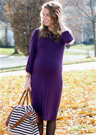 Queen Bee Allesandra Purple Maternity Dress by Trimester Clothing