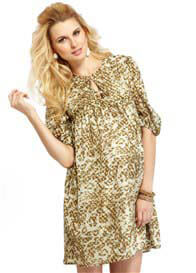 Queen Bee Agnes Leopard Print Maternity Dress by More of Me