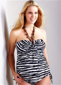 Maternal America - Summer Tankini in Zebra Print - ON SALE
